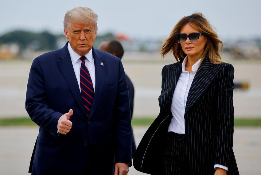 Trump and Melania REUTERS TT.