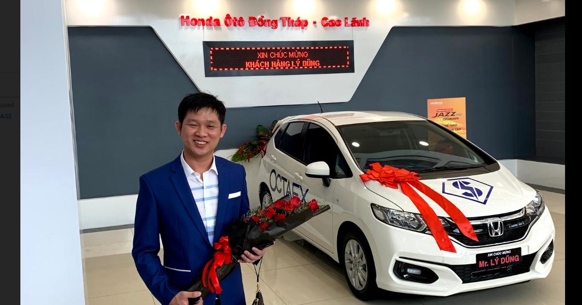 OctaFX trao tặng chiếc Honda thứ 3 cho các Đối tác tham dự Cuộc thi