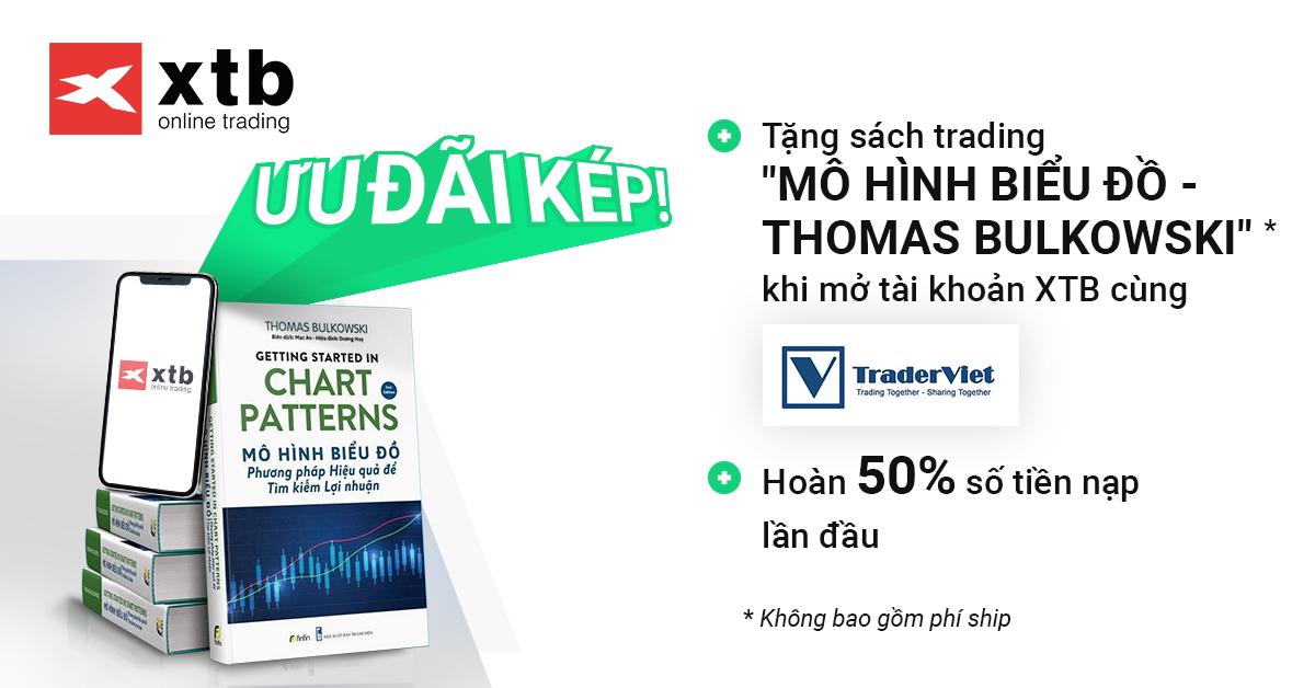Ưu đãi kép từ XTB: Hoàn tiền 50% + Tặng sách trading miễn phí