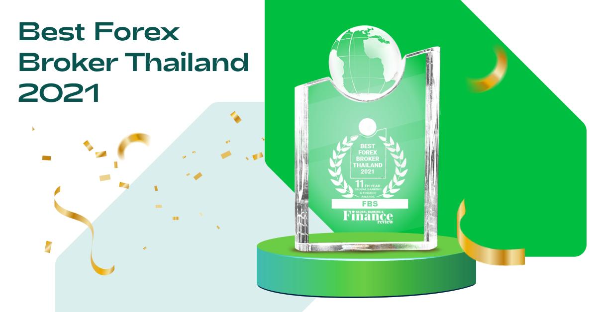 FBS đã nhận được giải thưởng Nhà môi giới ngoại hối tốt nhất tại Thái Lan năm 2021